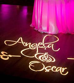 Proiezione nome o iniziali sposi